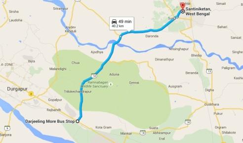 map bolpur