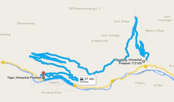 Tapri-Chooling Road